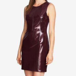 1.State Sleeveless Patent Faux Leather Dress